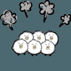 [LINEスタンプ] 【動きすぎ!】こまこまヒヨコ (1)