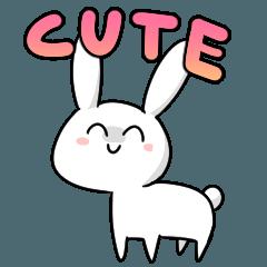 [LINEスタンプ] かわいいウサちゃん