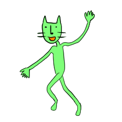 [LINEスタンプ] 緑色の猫とスペイン語 (1)