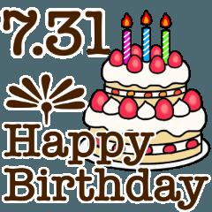 7月1日〜31日までのお誕生日おめでとう