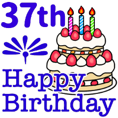 37〜72歳お誕生日お祝い1年毎に違うカラー