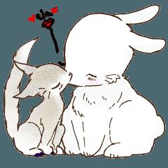 【一匹狼と大きなウサギ】 (ハリア&ギタ)