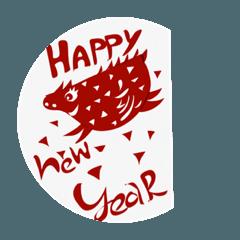 年賀状スタンプとサンキューカードスタンプ