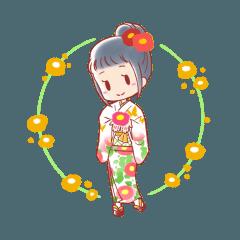 [LINEスタンプ] つばきりおん (1)
