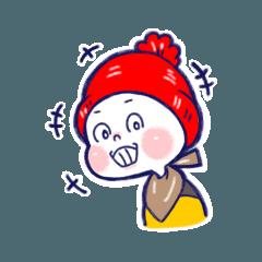 [LINEスタンプ] ぼうし坊っちゃん 1 (1)