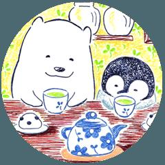 [LINEスタンプ] ペンちゃんとシロクマさん (1)