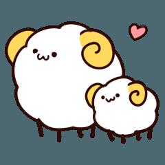 [LINEスタンプ] モコモコ羊さん (1)