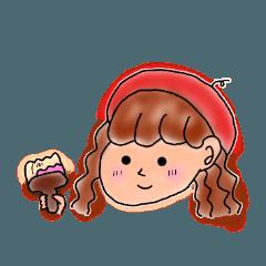 [LINEスタンプ] ベレー帽のツッキーさん (1)