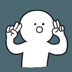 [LINEスタンプ] ぎこちない子供 (1)