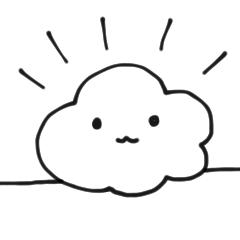 [LINEスタンプ] 雲の神様 (1)