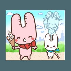 旅行が好きなウサギちゃん♪毎日の会話に♡