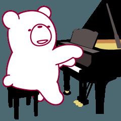 クマなのにピアニスト!ピアノ弾きます。