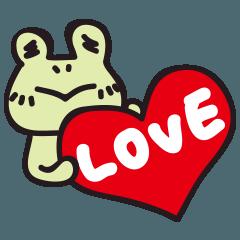 [LINEスタンプ] カエル夫婦の業務連絡【妻用2】 (1)