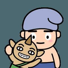 森の妖精と赤ちゃんゴブリン