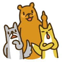 クマ・キツネ・オオカミの日常使いスタンプ
