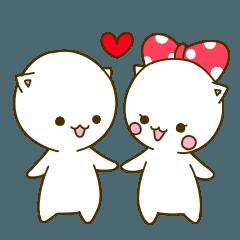[LINEスタンプ] ラブラブな恋人たちへのスタンプ (1)