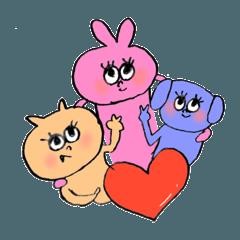 ピンクの兎