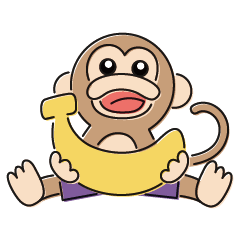 「劇団バナナ」のえいごスタンプ
