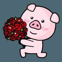 素敵なピンクの豚