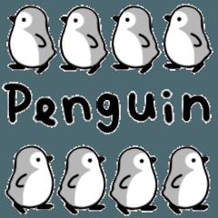 ついてくるペンギンのスタンプ(文字なし)