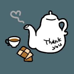 [LINEスタンプ] ガーリー&キュートなありがとうスタンプ (1)