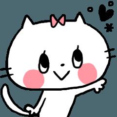 [LINEスタンプ] ねこちゃんスタンプー基本セット