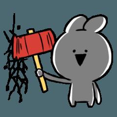 [LINEスタンプ] すこぶる動くクレイジーウサギ2