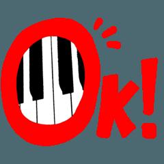 ピアノ・音楽教室の先生スタンプ