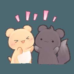 [LINEスタンプ] ゆるっと敬語なハムとリス (1)