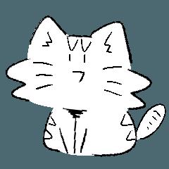 ネコ&ハリネズミのシュールなスタンプ