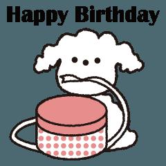 誕生日とお祝いスタンプ