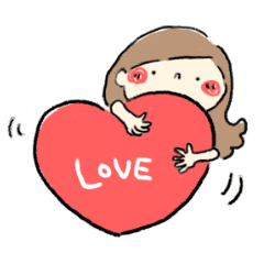 愛がいっぱいスタンプ