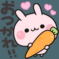 [LINEスタンプ] 気づかいのできるウサギ♪ (1)