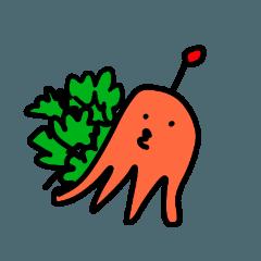 [LINEスタンプ] お弁当の赤いの (1)