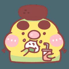 [LINEスタンプ] リーエンくんの良い友達 3(頬肉がたくさん) (1)