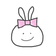 [LINEスタンプ] ちょこっと女子なうさぎさん (1)