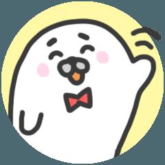 [LINEスタンプ] ほんわかアザラシの敬語の日常 (1)