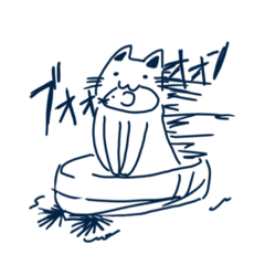 [LINEスタンプ] 雑なねこ。 (1)