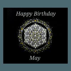 【お誕生日】5月 Flower of Life / 黒背景
