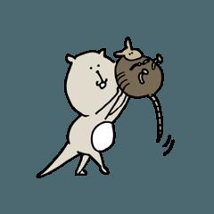 [LINEスタンプ] カワウソさんとアルマ次郎 (1)