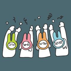 [LINEスタンプ] 4姉妹うさぎのあれこれ (1)