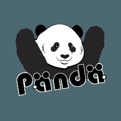 子パンダとパンダのかわいいスタンプ