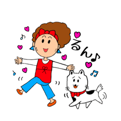 あかぼーママと犬っころのスタンプ