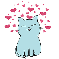 餃子青い猫