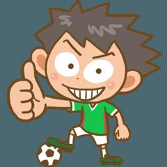 ジュニアサッカー緑白白01