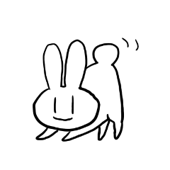 [LINEスタンプ] 真っ白しろうさぎ (1)