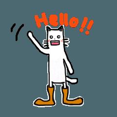 [LINEスタンプ] 長靴を履いたネコさん(40個バージョン)。 (1)