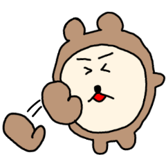 [LINEスタンプ] ハダクマちゃん (1)