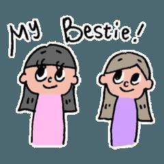 [LINEスタンプ] bestie! (1)