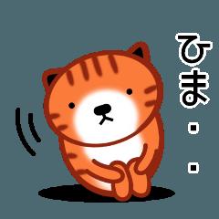 [LINEスタンプ] ひまねこにゃんず【茶トラ】 (1)